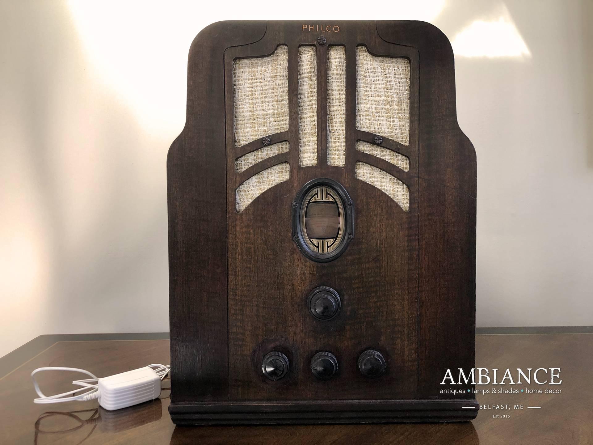 Bluetooth-Enabled 1935 Philco Radio-Model 620B