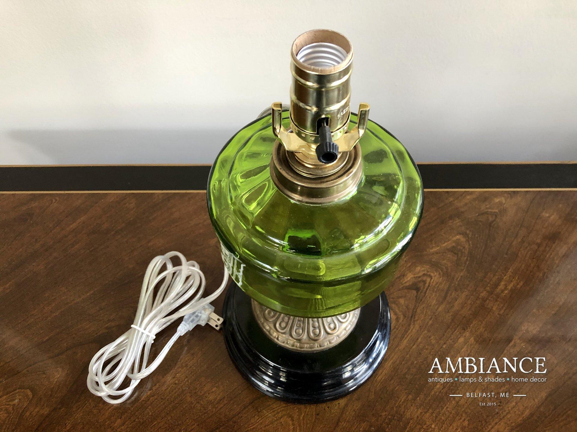 Vintage-Green-Glass-Kerosene-Electrified-Lamp-03